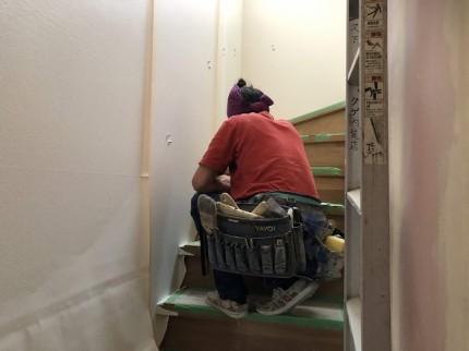 クロス貼りを施工しています 会津若松市 |郡山市 新築住宅 大原工務店のブログ