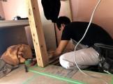 腰壁の幅を測っていきます。郡山市田村町| 郡山市 新築住宅 大原工務店のブログ