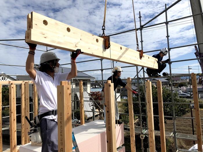 注文住宅の上棟の様子です。|郡山市 新築住宅 大原工務店のブログ