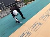 屋根防水の施工中です 郡山市富久山町 |郡山市 新築住宅 大原工務店のブログ