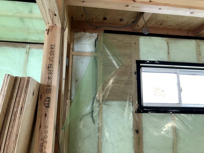 下地部分の気密処理です。|郡山市 新築住宅 大原工務店のブログ