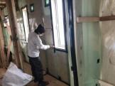 気密検査行いました。二本松市|郡山市 新築住宅 大原工務店のブログ
