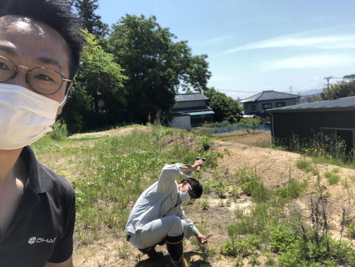 地縄を張ってきました。|郡山市 新築住宅 大原工務店のブログ