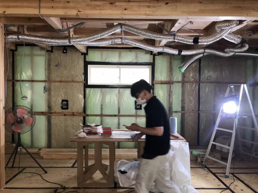 高気密の気密処理です。|郡山市 新築住宅 大原工務店のブログ