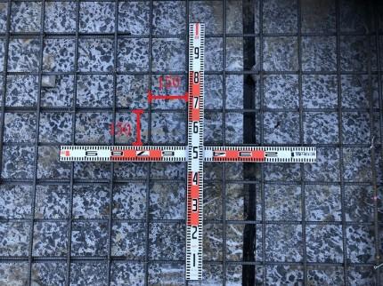 スラブ配筋のピッチ確認です 郡山市昭和 |郡山市 新築住宅 大原工務店のブログ
