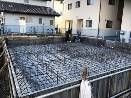 配筋が終わりました 郡山市昭和 |郡山市 新築住宅 大原工務店のブログ