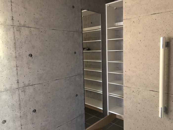 シューズクロークに姿見の鏡を設置です。|郡山市 新築住宅 大原工務店のブログ