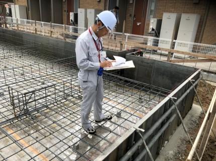 新築べた基礎の配筋検査です。|郡山市 新築住宅 大原工務店のブログ