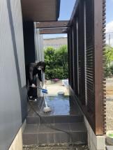 お引渡し式前の掃除です。|郡山市 新築住宅 大原工務店のブログ