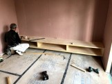 TVボードが完成したところです。郡山市片平町O様邸| 郡山市 新築住宅 大原工務店のブログ