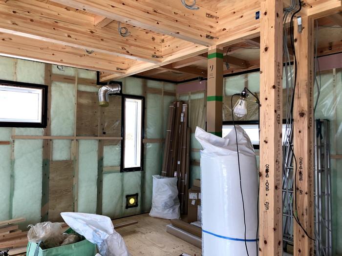 防湿気密シートの施工です。|郡山市 新築住宅 大原工務店のブログ