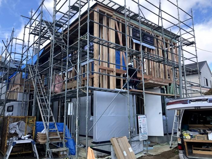 上棟後のサッシの取付です。| 郡山市 新築住宅 大原工務店のブログ