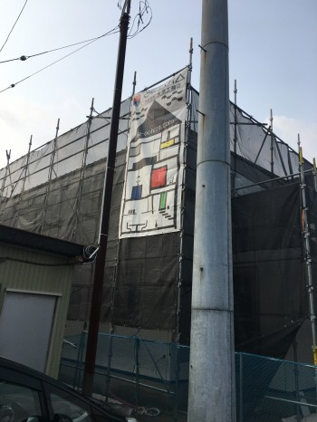 手すりの位置だしです。|郡山市 新築住宅 大原工務店のブログ