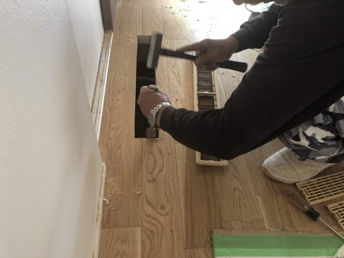 大原工務店で新築注文住宅建築中I様邸、床下エアコンがあります。岩瀬郡鏡石町| 郡山市 新築住宅 大原工務店のブログ