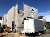 足場シートが掛けられました!郡山市久留米| 郡山市 新築住宅 大原工務店のブログ