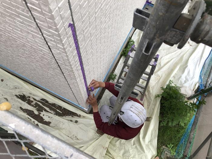 外壁のシーリング施工です。 郡山市 新築住宅 大原工務店のブログ