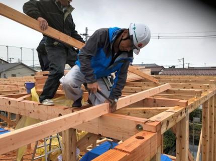 屋根の下地組です。|郡山市 新築住宅 大原工務店のブログ