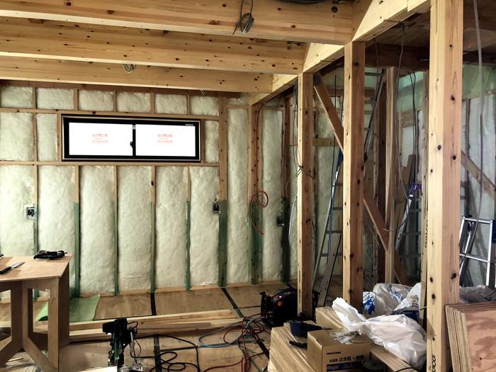 断熱材の施工です。|郡山市 新築住宅 大原工務店のブログ