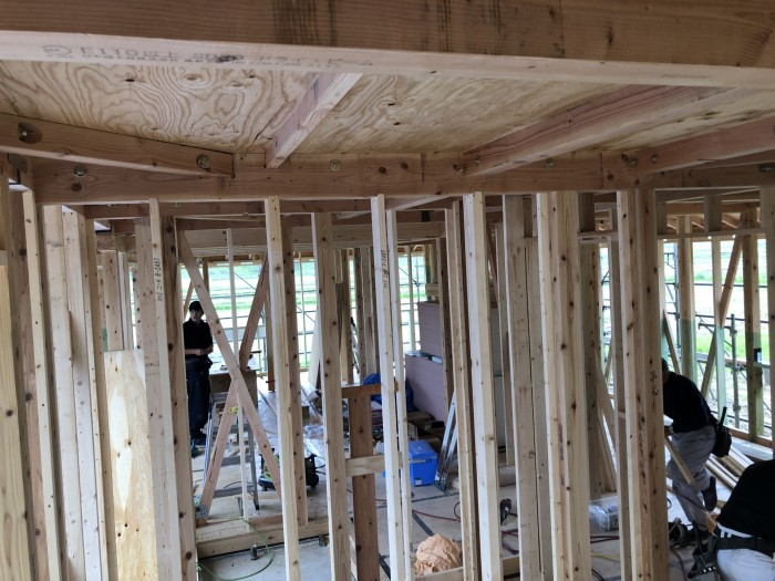 組み立ての工程です。本宮市白岩 郡山市 新築住宅 大原工務店のブログ
