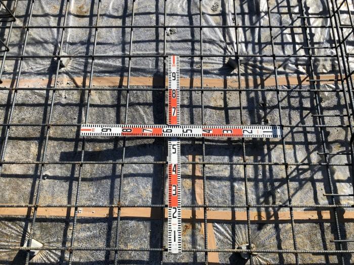 べた基礎の配筋ピッチです。|郡山市 新築住宅 大原工務店のブログ
