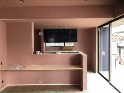 ボードを貼り終わったところです。郡山市葭ヶ入| 郡山市 新築住宅 大原工務店のブログ