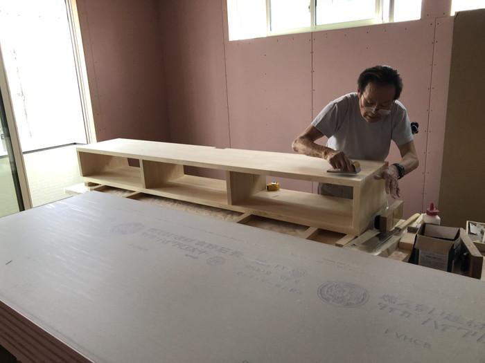 造作TVボードの作成です。|郡山市 新築住宅 大原工務店のブログ