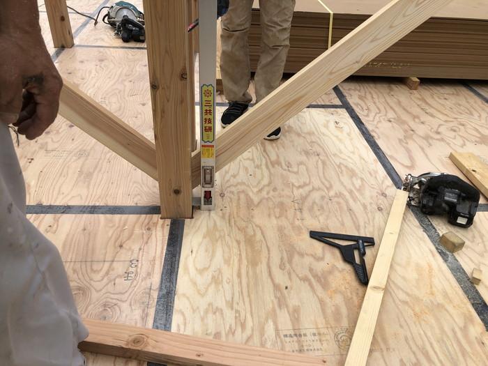 屋直しをしている様子です。郡山市安積町| 郡山市 新築住宅 大原工務店のブログ