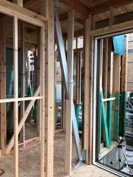 ブレースリー設置完了です。|郡山市 新築住宅 大原工務店のブログ