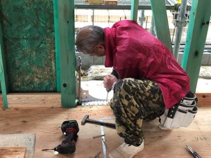 制震装置取付です。|郡山市 新築住宅 大原工務店のブログ