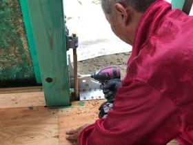 制震金物の設置です。|郡山市 新築住宅 大原工務店のブログ