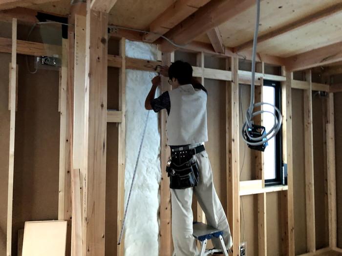 施工していきます。郡山市安積町M様邸| 郡山市 新築住宅 大原工務店のブログ