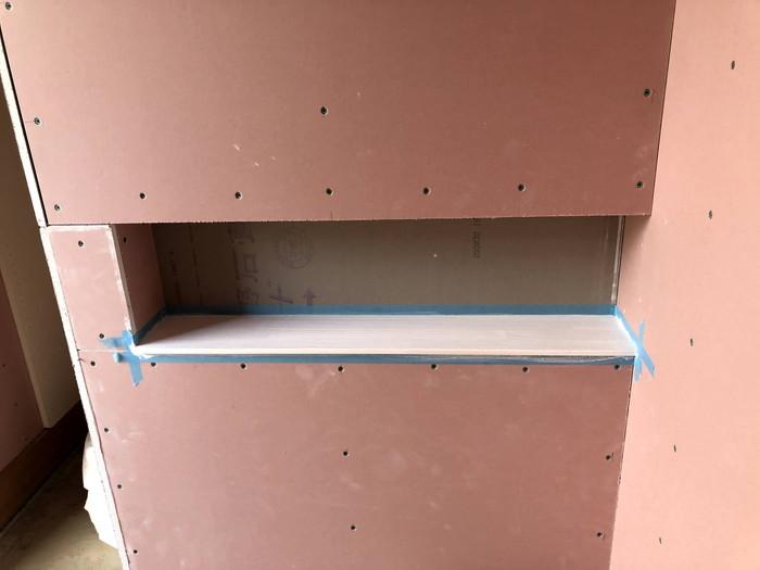 ニッチの塗装です。|郡山市 新築住宅 大原工務店のブログ