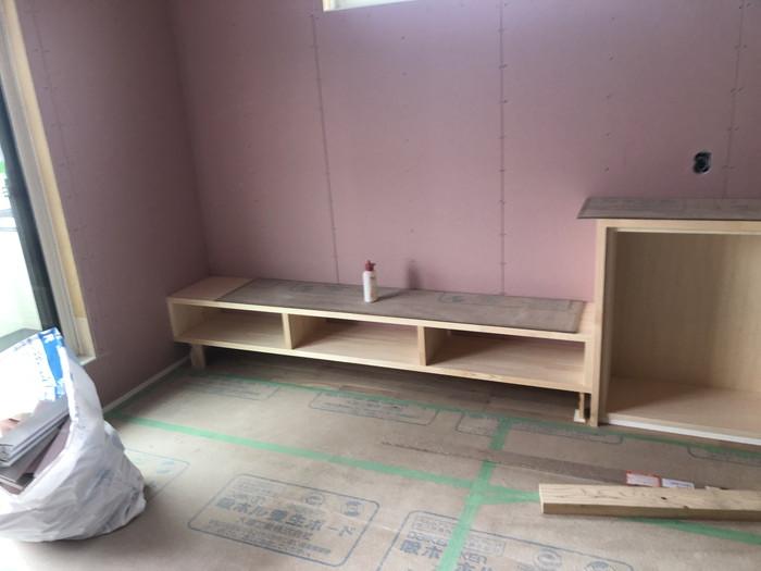 造作家具の完成です。|郡山市 新築住宅 大原工務店のブログ