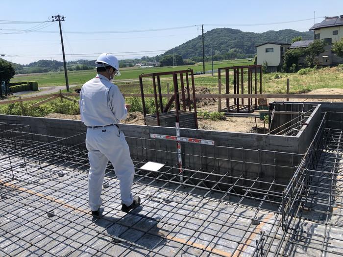 基礎の立ち上がりの配筋検査です。|郡山市 新築住宅 大原工務店のブログ