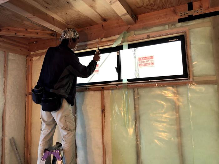 窓廻りの断熱処理です。|郡山市 新築住宅 大原工務店のブログ