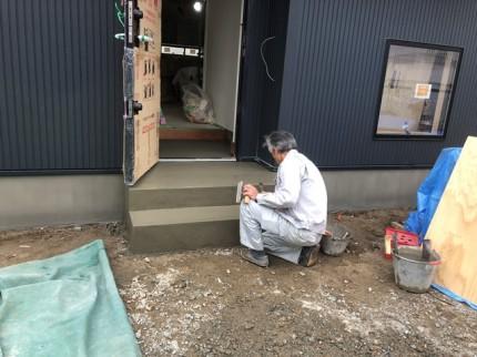 左官仕上げ 玄関ポーチ|郡山市 新築住宅 大原工務店のブログ