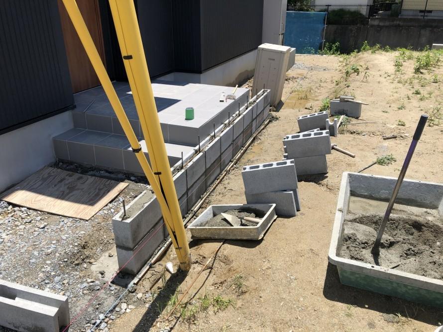 コンクリートブロックは越境に気をつけよ|郡山市 新築住宅 大原工務店のブログ
