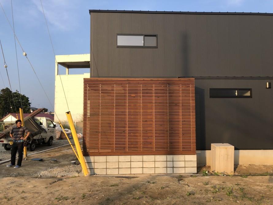 カッコイイパーゴラの完成|郡山市 新築住宅 大原工務店のブログ