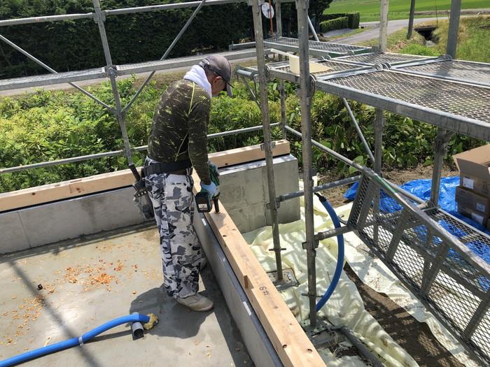 土台敷の工程です。|郡山市 新築住宅 大原工務店のブログ