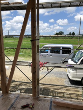 平屋の新築住宅の上棟です。 郡山市 新築住宅 大原工務店のブログ