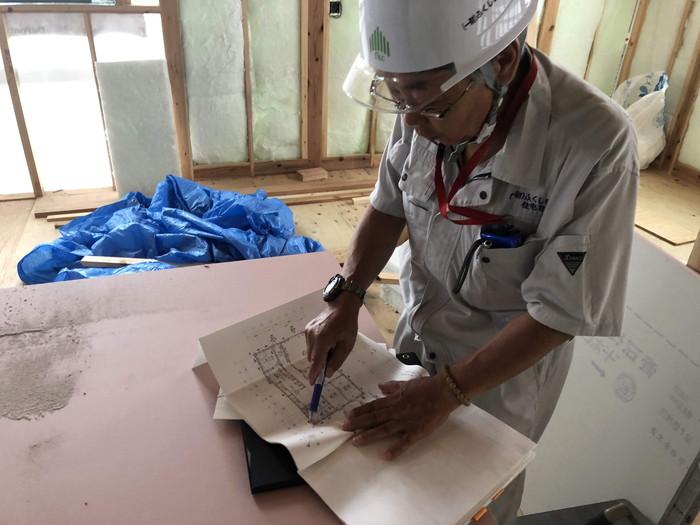 上棟検査の様子です。|郡山市 新築住宅 大原工務店のブログ