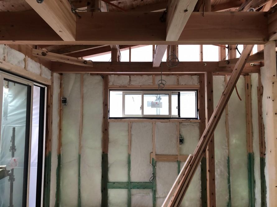 断熱材充填状況|郡山市 新築住宅 大原工務店のブログ