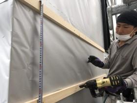 胴縁の施工をしています 二本松市 |郡山市 新築住宅 大原工務店のブログ