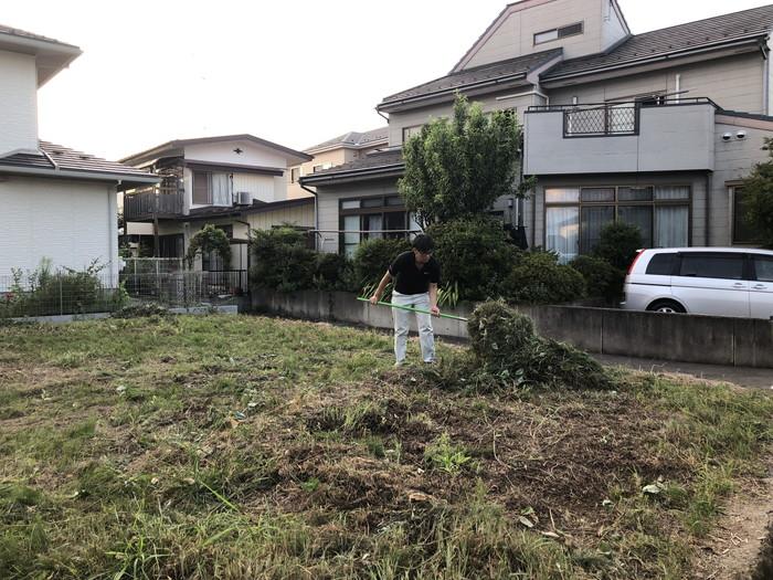 地鎮祭前の草刈りです。|郡山市 新築住宅 大原工務店のブログ