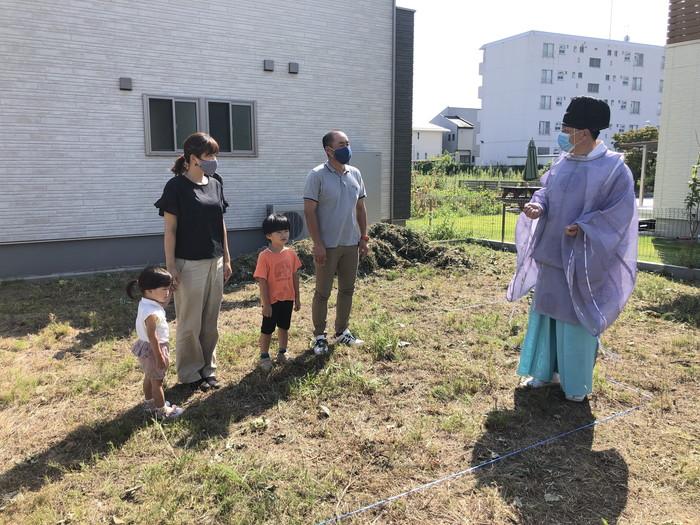注文住宅の地鎮祭です。|郡山市 新築住宅 大原工務店のブログ