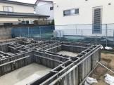 スラブコンクリートが打たれて、型枠が組まれました。郡山市富田町T様邸| 郡山市 新築住宅 大原工務店のブログ