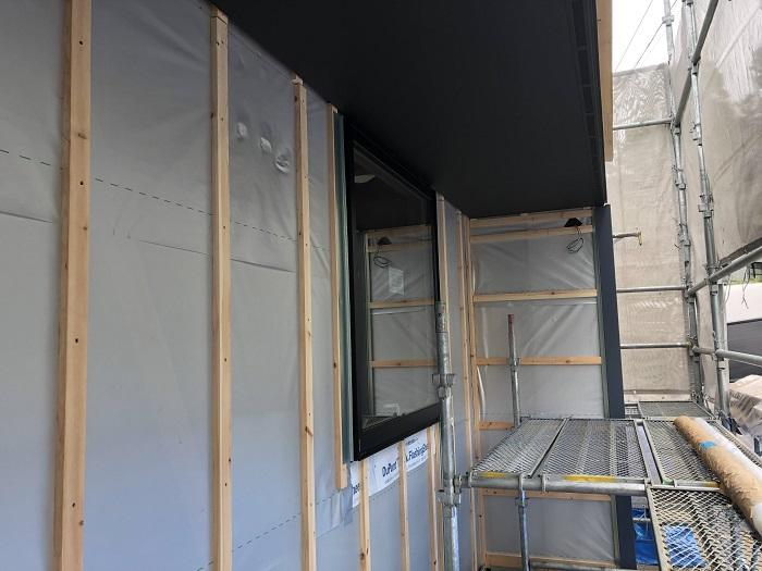胴縁の施工が終わりました 二本松市 |郡山市 新築住宅 大原工務店のブログ