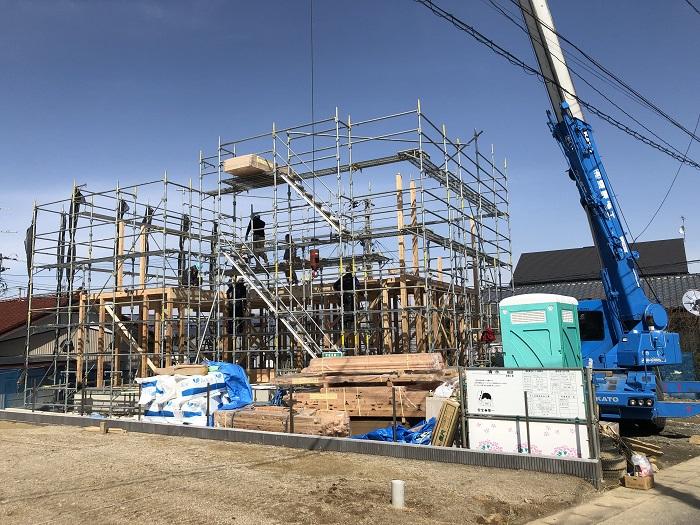 上棟しました 郡山市片平町 |郡山市 新築住宅 大原工務店のブログ