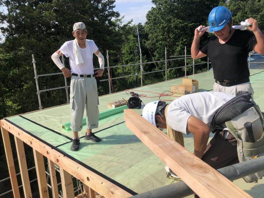 郡山市日和田のW様邸新築工事で上棟しました。|郡山市 新築住宅 大原工務店のブログ