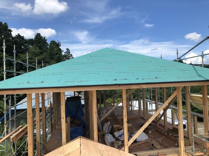 ルーフィングの施工です。郡山市日和田町  郡山市 新築住宅 大原工務店のブログ